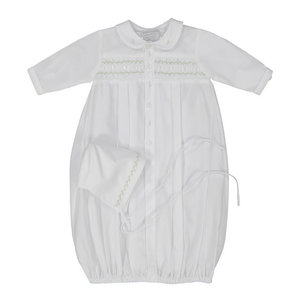 Feltman Brothers White Smocked Neutral Baby Take Me Home Gown