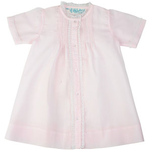 Feltman Brothers Pink Newborn Pleated Daygown