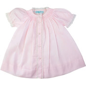 Feltman Brothers Pink Layette Open Dress Daygown