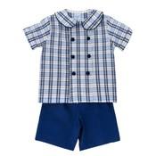 Bailey Boys Buxton Plaid Dressy Short Set