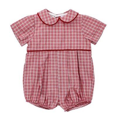 Bailey Boys Wembley Plaid/Red Cord Dressy Short Bubble