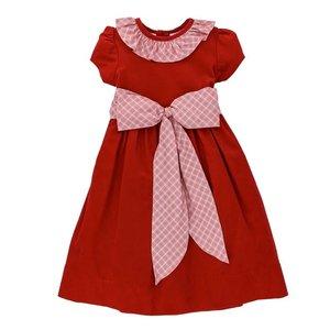 Bailey Boys Wembley Plaid/Red Cord Empire Dress