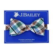 J Bailey Wood Duck Plaid Bow Ties