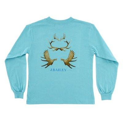 J Bailey Antlers on Ocean Logo Tee