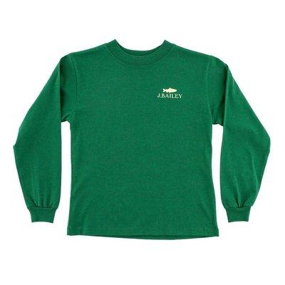 J Bailey Fishing Club on Green Logo Tee