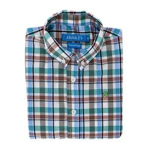 J Bailey Wood Duck Plaid Button Down Shirt