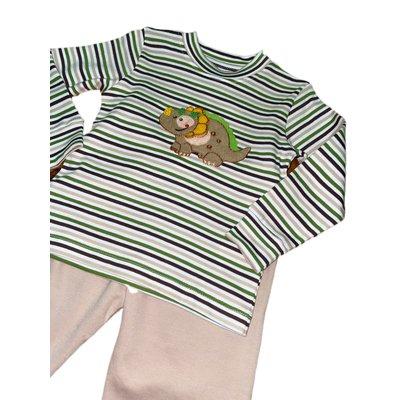 Squiggles Dinosaur Stripe Pant Set