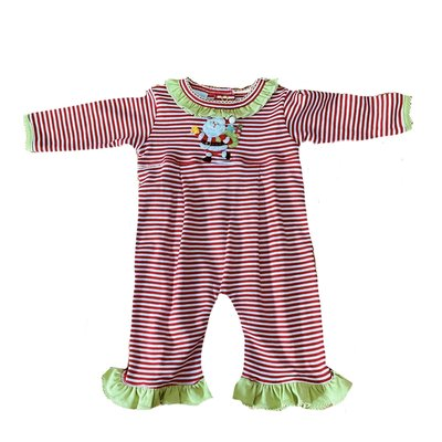 Squiggles Bell Ringing Santa Ruffle Coverall