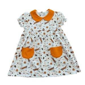 Lulu Bebe LLC Clemson Short Sleeve Collar Dress