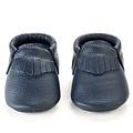 BirdRock Baby Navy Genuine Leather Baby Moccasins