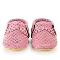 BirdRock Baby Pink Mermaid Genuine Leather Baby Moccasins