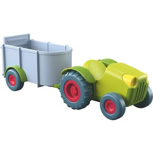HABA Little Friends Tractor and Trailer