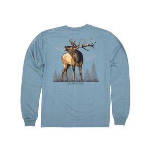 Properly Tied Steel Blue Elk L/S Tee