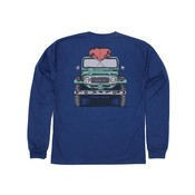 Properly Tied River Blue Adventure Awaits L/S Tee