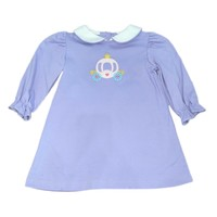 Zuccini Lavender Knit Long Sleeve Carriage Dress