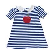 Zuccini Royal & White Stripe Knit Apple Dress