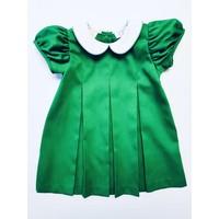 Lulu Bebe LLC Green Pintuck Dress with Collar