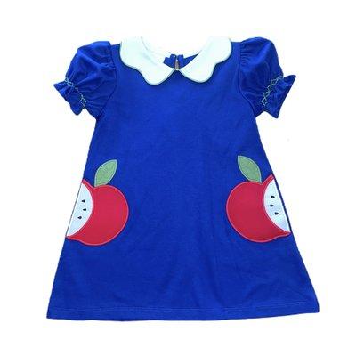 Zuccini Royal Knit Apple Applique Dress