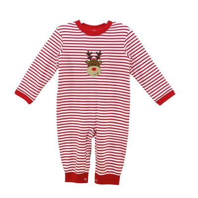 Zuccini Reindeer Red Stripe Knit Luke Long Bubble