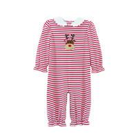 Zuccini Reindeer Red Stripe Louisa Knit Long Bubble