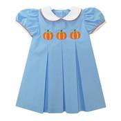 Zuccini Pumpkin Applique Camila Pleated Woven Dress