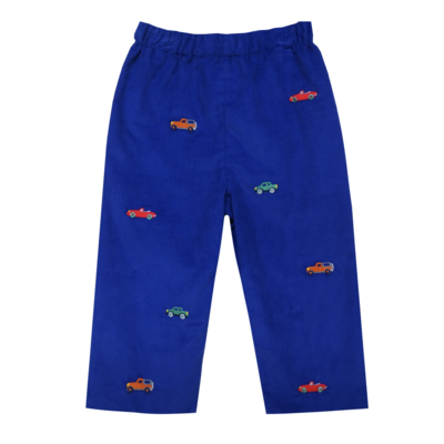 Zuccini Vintage Cars Embroidered Polo Pant Set