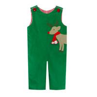 Zuccini Reindeer Applique Wrap Christmas Green Corduroy Reversible Longall