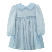 Zuccini Flannel Lt Blue Check Barben Dress