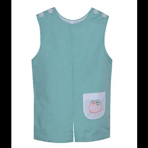 Remember Nguyen Green Gingham Embroidered Pumpkin Shortall