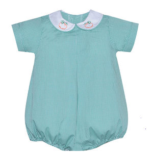 Remember Nguyen Green Gingham Embroidered Pumpkin Bubble
