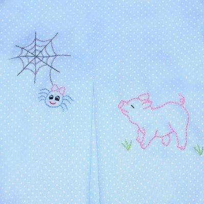 Remember Nguyen Blue Charlotte's Web Pant Set