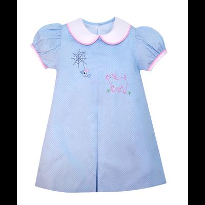 Remember Nguyen Blue Charlotte's Web Dress