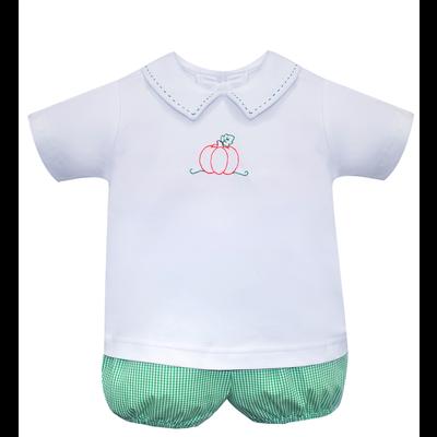 Baby Sen Green Pumpkin Short Set