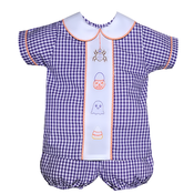 Baby Sen Purple Embroidered Halloween Short Set