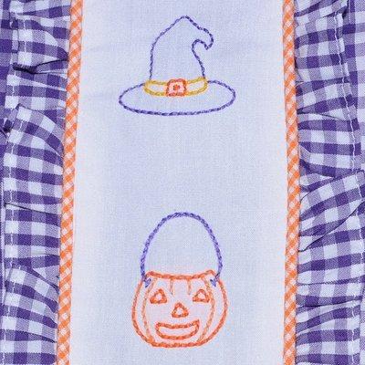 Baby Sen Purple Embroidered Halloween Girl Bubble