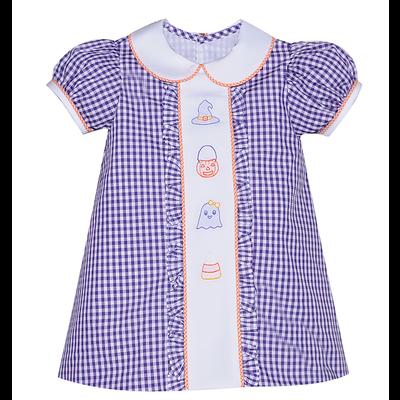 Baby Sen Purple Embroidered Halloween Dress