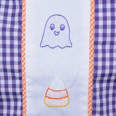 Baby Sen Purple Embroidered Halloween Boy Bubble