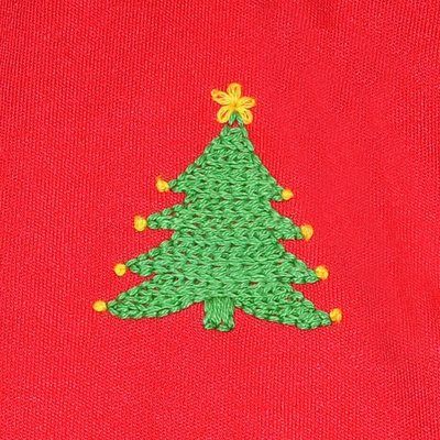 Baby Sen Red Christmas Tree Dress