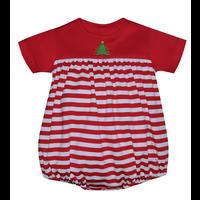 Baby Sen Red Christmas Tree Boy Bubble