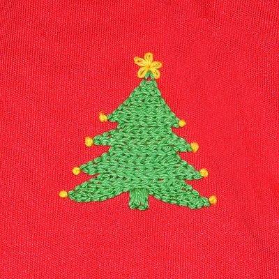 Baby Sen Red Christmas Tree Short Set