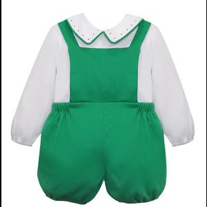 Baby Sen Green Jesse Boy Short Romper