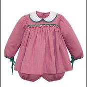 Baby Sen Red Shay Bloomer Set