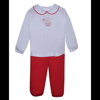 Baby Sen Red Santa Boy Pant Set