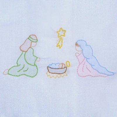 Remember Nguyen Blue Nativity Bubble