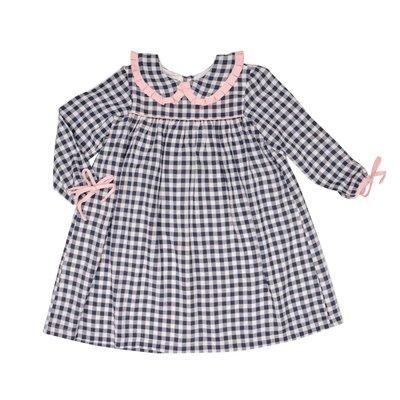 The Oaks Apparel Cecilia Navy Check w/ Pink Dress
