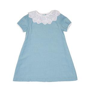 The Oaks Apparel Elizabeth Medium Blue Bow Dress