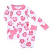 Magnolia Baby XOXO Printed Long Pajamas