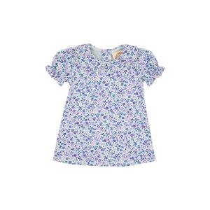Beaufort Bonnet Company Mableton Minnie Floral/Palm Beach Pink Maudes Peter Pan Collar Dress
