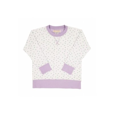Beaufort Bonnet Company Valley Rd Rosebud/Lauderdale Lavender Cassidy Comfy Crewneck French Terry