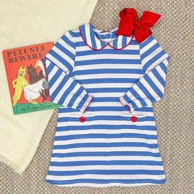 Beaufort Bonnet Company Barbados Blue/Richmond Red Petunia Play Dress